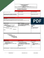 ACUERDO PEDAGOGICO CIENCIAS NATURALES  PERIODO 1-2019