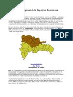 División regional de la República Dominicana