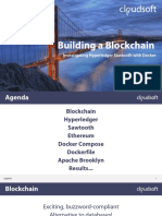 Building a Blockchain - Investigating Hyperledger Sawtooth with Docker