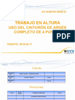 AV-HUM-PA-SH95-01 USO DEL CINTURÓN DE ARNÉS COMPLETO DE 4 PUNTOS