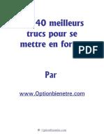 Les 40 meilleurs trucs pour se mettre en forme -- www.optionbienetre.com.pdf