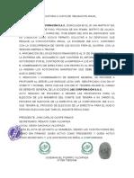 COVOCATORIA A JUNTA DE OBLIGACION ANUAL