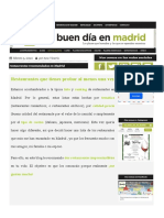 Un buen dia en Madrid - Adapted text for reading comprehension in Spanish