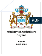 Ministry of Agriculture's Performance Report 2015-2020