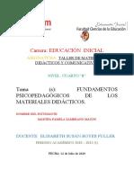 FUNDAMENTOS PSICOPEDAGÓGICOS DE LOS MATERIALES DIDÁCTICOS.