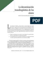 denominacion translinguistica-olores