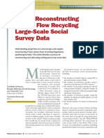 PFlow Reconstructing People Flow Recycling Large-Scale Social Survey Data