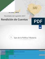 RENDICIÓN DE CUENTAS 2017 EN 2018