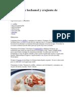 Coliflor con bechamel y crujiente de beicon