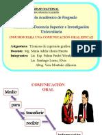 G3. INSUMOS DE UNA COMUNICACION ORAL