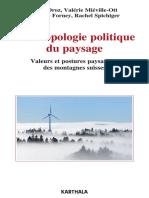 Anthropologie politique du paysage