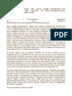 Lettera di cordoglio del Papa Benedetto XVI