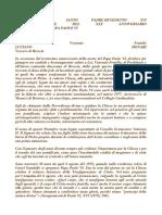 Lettera del Papa Benedetto XVI alla Chiesa americana