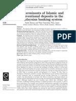 Determinant of Deposit Islamic Banks