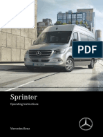 New 2018 Sprinter Owner's Manual;Operating Instructions