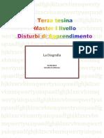 tesina n. 3  disgrafia
