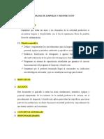 PROGRAMA DE LIMPIEZA Y DESINFECCIÓN - Cerveza