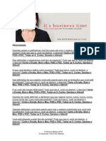 Portuguese It's Business Time - Clearings