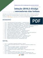 Vestibular Seleção 2018.2 UNP divulga nomes dos vencedores das bolsas