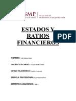 Estados y ratios financieros