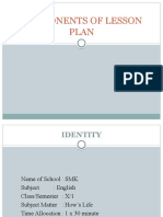 COMPONENTS OF LESSON PLAN 9
