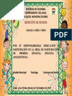 DIPLOMA NIÑ@S DE MESA DE PARTICIPACION