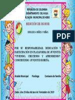 DIPLOMA NIÑ@S DE PLATAFORMA