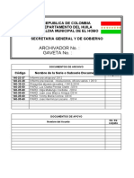 FORMATO PARA MARCADO DE GAVETAS ARCHIVADORES