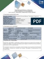 Guía de actividades y rúbica de evaluación Guía Tarea 3 - Desarrollar Componente Práctico Virtual_Diseño del trabajo (332571)