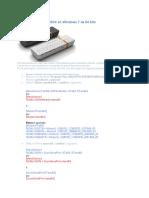 Modem USB Alcatel 060X en Windows 7 de 64 Bits