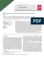 Two dimensional nanomaterials fascinating materials in biomedical field