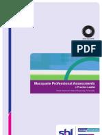 Macquarie Psycho Metric Assessment