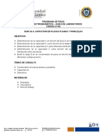 GUÍA No 6. CAPACITOR DE PLACAS PLANAS Y PARALELAS