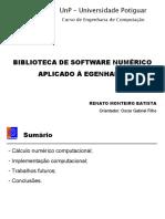 Biblioteca de Software Numerico Aplicada a Engenharia