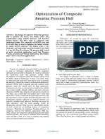 Design Optimization of Composite Submarine Pressure Hull