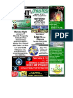 January 16 2011 Newsletter One Half Version