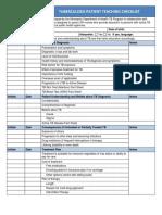 Patient-Tuberculosis-Checklist