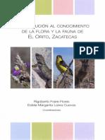 Contribución al conocimiento de la flora y la fauna de El Orito, Zacatecas