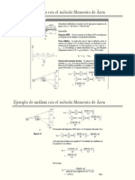 ejemplo del metodo de momento de area