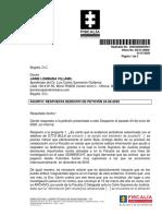 Respuesta derecho de petición Fiscalía