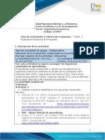 Guia de actividades y Rúbrica de evaluación Tarea 3 - Evaluación financiera de proyectos
