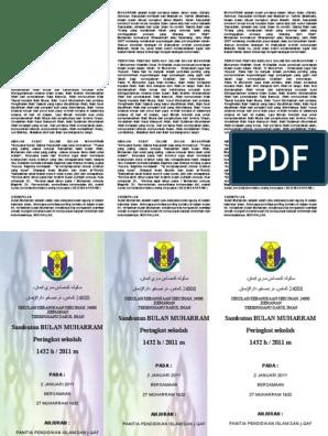 pamplet muharram