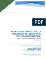 U La prevención del delito en el contexto internacional
