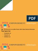 Empowerment Technologies- Lesson 5