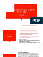 EE8703 Renewable Energy system UNIT 1