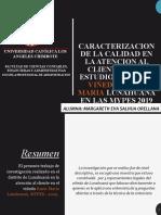 CARACTERIZACION DE LA CALIDAD EN LA ATENCION AL.pptx