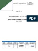 ANEXO 8.17 IG-PETS- 11 PROCEDIMIENTO ESCRITO TRABAJO SEGURO DE TRABAJOS EN CALIENTE
