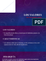 LOS VALORES SUBJETIVIDAD POLARIDARIDAD Y JERARQUIA