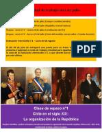 Repaso n°1 - Organización Estado-Nación Chile - Ensayos Constitucionales
