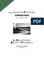Cuadernos de psiquiatría comunitaria (Vol. 4, N° 2, 2004). La esquizofrenia_ déficits y tratamiento.pdf